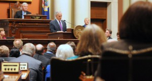 Dayton touts progress on economy, education in State of the State