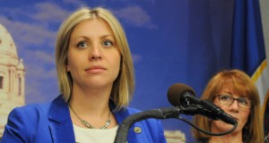 Rep. Carly Melin said lawmakers need to move forward with a solution on medical marijuana. (Staff photo: James Nord)