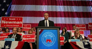 Sen. Scott Newman took the GOP endorsement for attorney general unopposed. (Staff photo: James Nord)