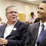2016 questions abound as Jeb Bush stumps for son