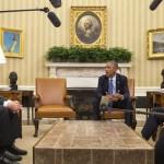 Dayton visits White House